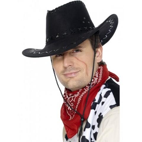 Accessori di carnevale cappello cow-girl rosso