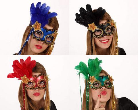 Accessori di carnevale maschere veneziane