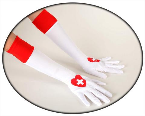 Accessori di carnevale guanti infermiera