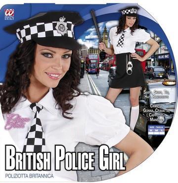Costume di carnevale poliziotta inglese sexy