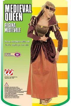Vestito di carnevale regina medioevale