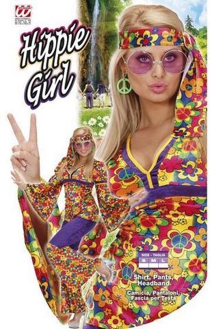 Vestito di carnevale hippie e figlia dei fiori