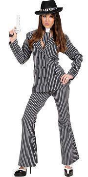 Vestito di carnevale gangster-lady