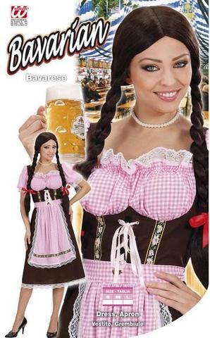 Vestito di carnevale cameriera bavarese rosa