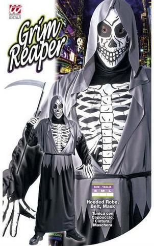 Vestito di carnevale scheletro morte