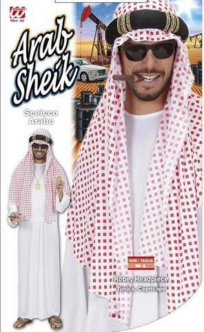 Vestito di carnevale sheicco arabo bianco