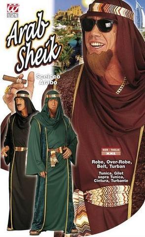 Costume di carnevale sheicco arabo