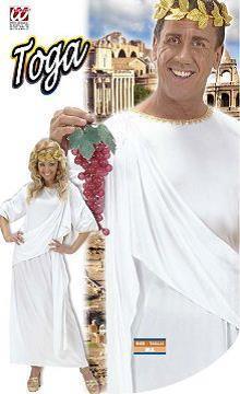 Vestito di carnevale toga bianca per lui e lei
