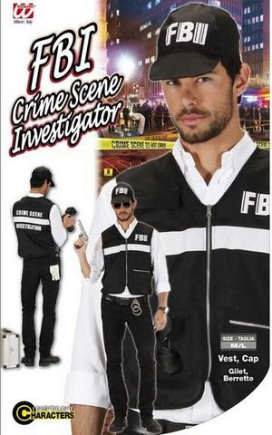 Vestito di carnevale agente investigatore fbi