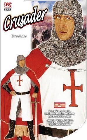 Vestito di carnevale cavaliere crociato