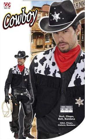 Costume di carnevale cow-boy nero