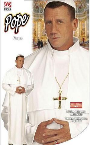 Vestito di carnevale papa
