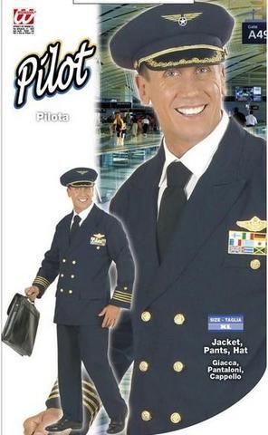 Costume di carnevale pilota aereo