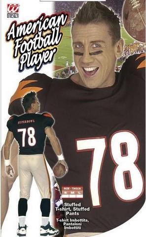 Costume di carnevale football player