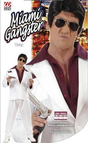Costume di carnevale gangster di miami