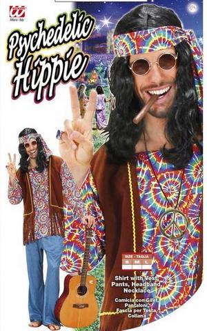 Vestito di carnevale hippie psichedelico