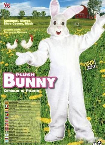 Costume di carnevale coniglio peluche