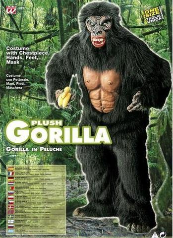 Vestito di carnevale gorilla peluche