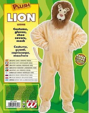 Vestito di carnevale leone peluche