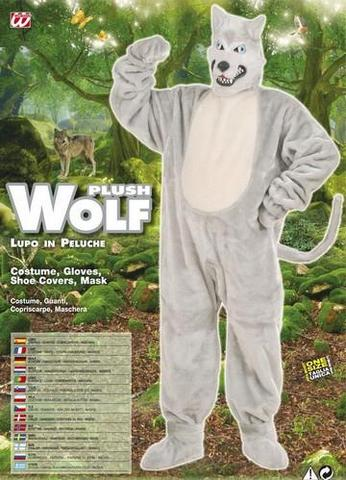 Vestito di carnevale lupo peluche