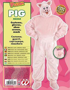 Vestito di carnevale maiale peluche