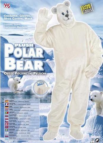 Vestito di carnevale orso polare peluche