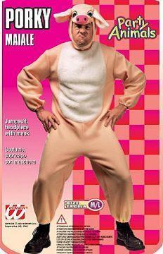 Costume di cranevale porco peluche