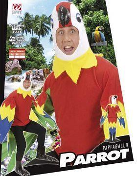 Vestito di carnevale pappagallo peluche