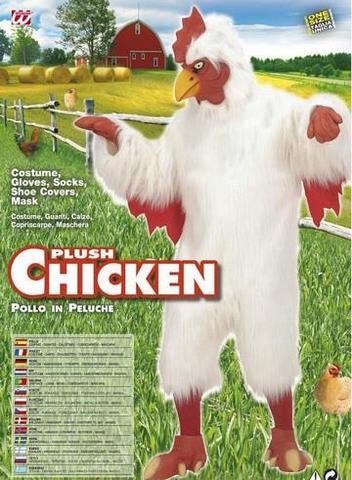 Costume di carnevale gallo pollo peluche