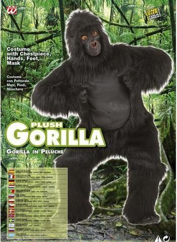 Vestito di carnevale gorilla scimpanzé peluche