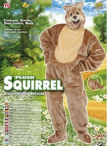 Costume di cranevale scoiattolo peluche