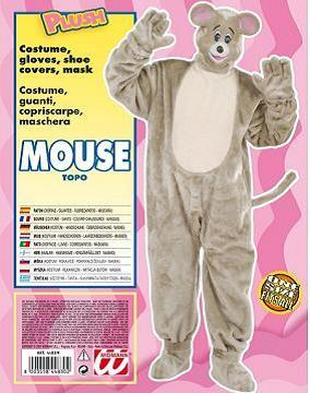 Vestito di carnevale topo peluche
