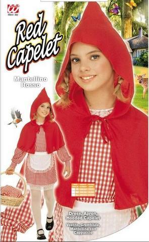 Vestito di carnevale cappuccetto rosso bambino