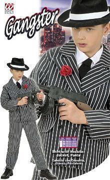 Vestito di carnevale gangster bambino