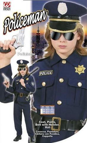 Vestito di carnevale poliziotto bambino