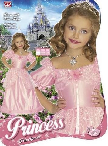 Vestito di carnevale principessa rosa bambino