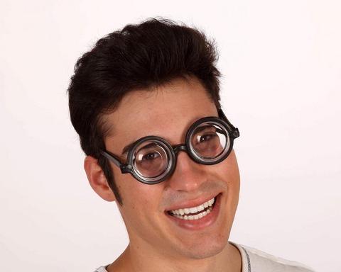 Accessori di carnevale occhiali nerd