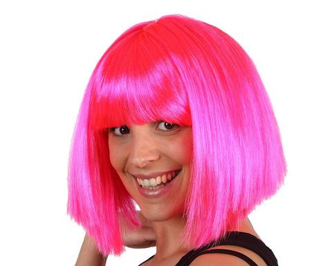 Accessori di carnevale parrucca corta pink