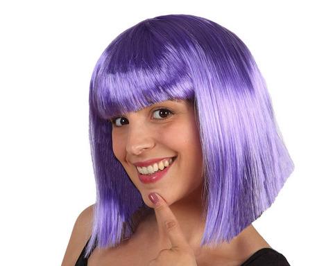 Accessori di carnevale parrucca viola corta