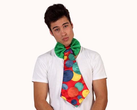Accessori di carnevale cravatta clown
