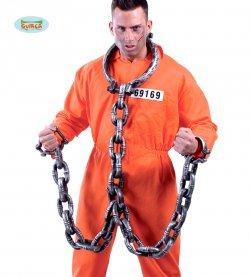 Accessorio halloween catena carcerato