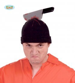 Accessorio halloween cuffia con coltello