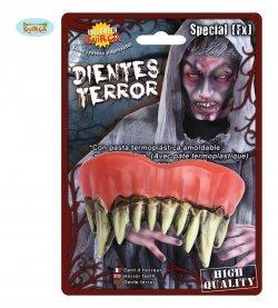 Accessorio halloween dentiera mostro