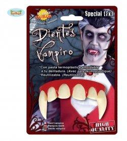 Accessorio halloween dentiera vampiro