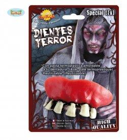 Accessorio halloween dentiera zombie