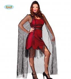 Vestito di halloween mantello a rete