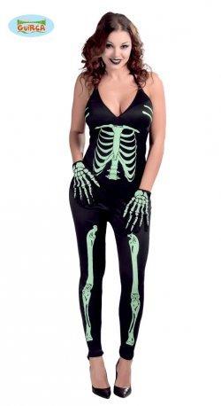 Costume di halloween scheletra sexy tuta