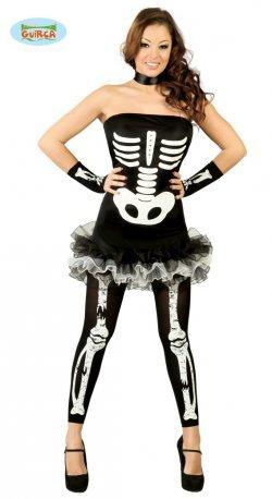 Costume di halloween scheletra sexy tutu