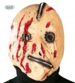 Maschera di halloween cerniera zip