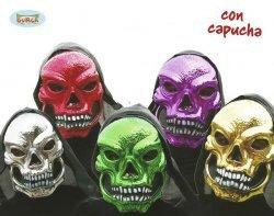 Maschere di halloween teschio metallizzate